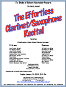 Effortless Clarinet & Saxophone Recital 2010