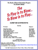 To Play is to Blow, To Blow is To Play 2010