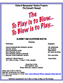 To Play is to Blow 2013