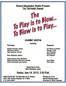 To Play is to Blow, To Blow is to Play 2015