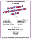 The Effortless Clarinet / Saxophone Recital 2008