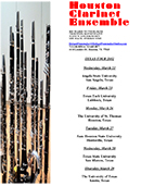 Houston Clarinet Ensemble Texas Tour 2012